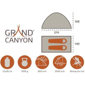 Grand Canyon Hangout 2 Tiendas de campaña, green